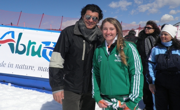 V with Alberto Tomba   Roccaraso 2012